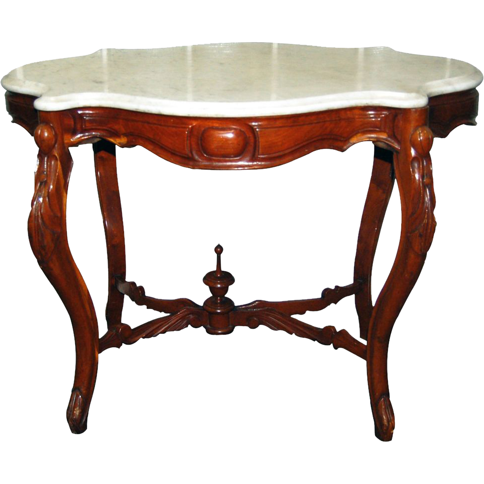 1114 Victorian Marble Top Table c.1870
