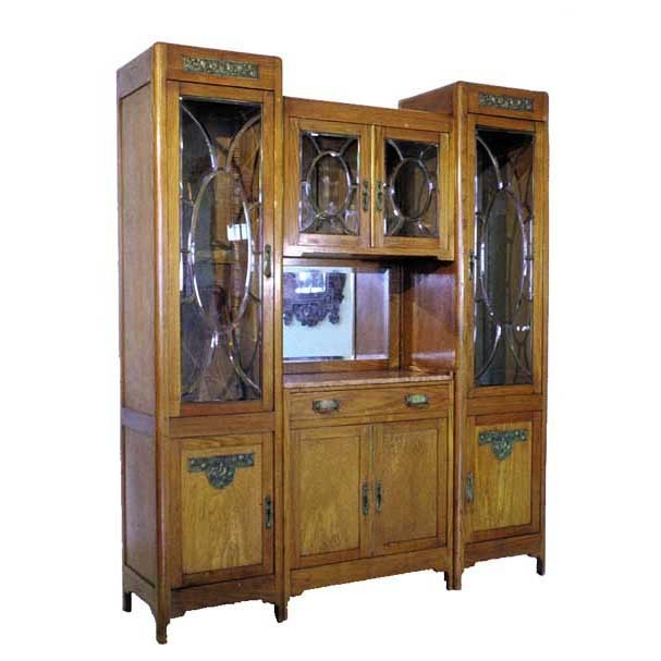 1227 Pair of Display Cabinets or Candidates for Front and Back Bar