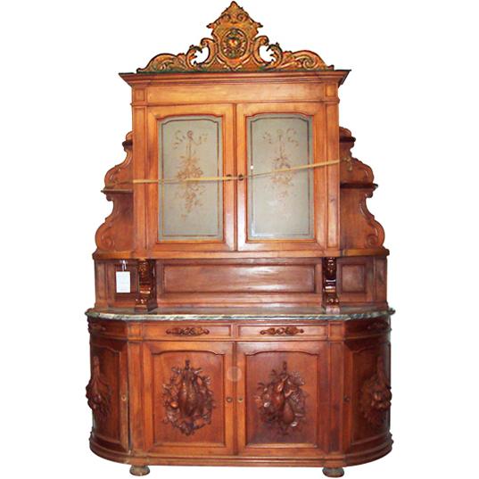 1273 Rococo Revival Walnut Sideboard c.1880