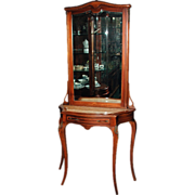 1296 Antique 19th C. French Console/Hall Piece with Beveled Mirror