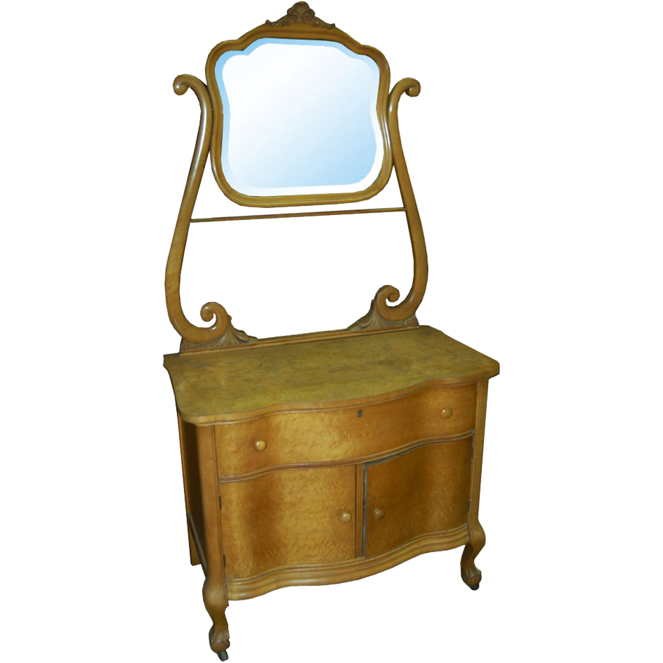1376 19th C. Dresser with Over Mirror