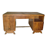 1438 Rosewood Art Deco Desk c. 1930