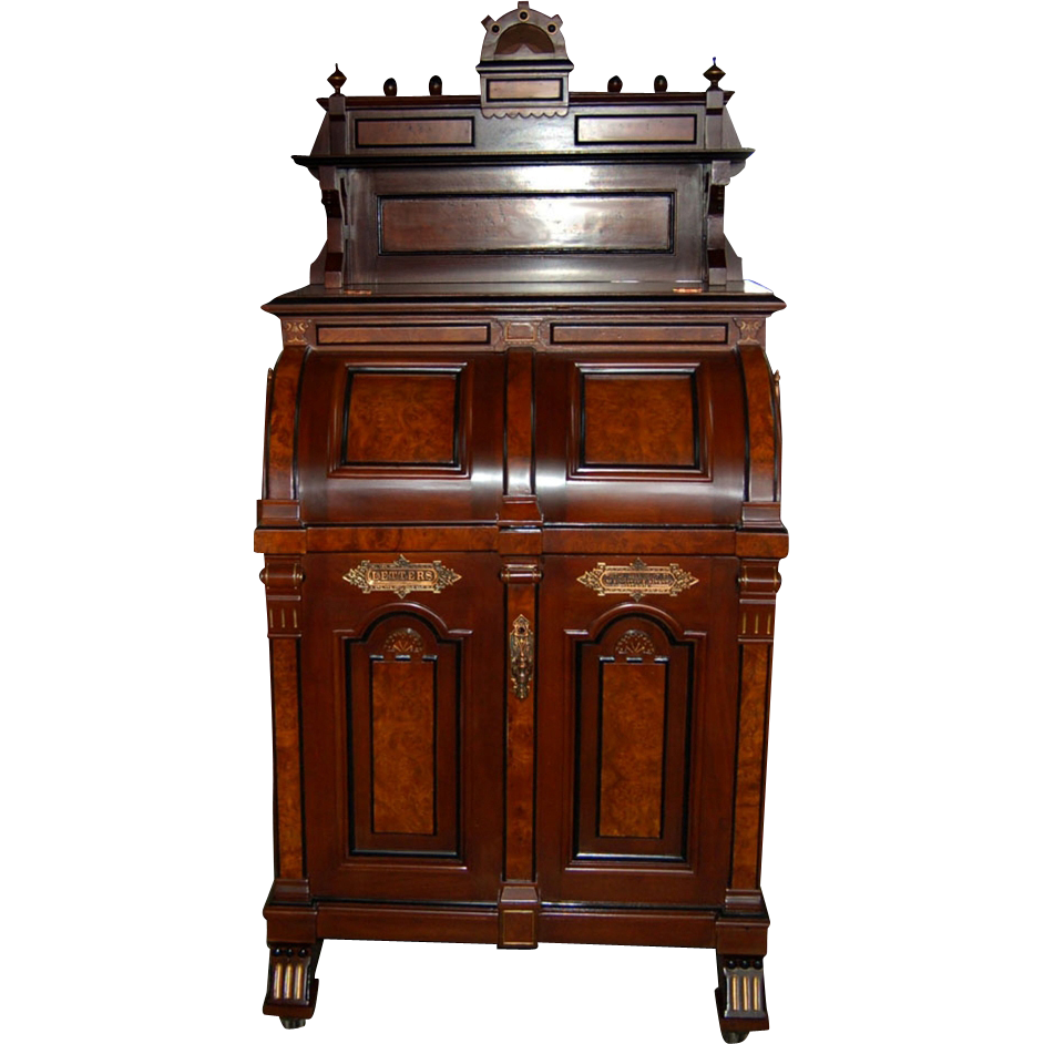"1528 Wooton ""Ladies Model"" Renaissance Style Patent Secretary Desk"