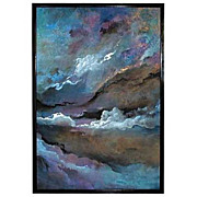 """1779 """"Skyscapes"""" Oil on canvas by Vance Larson."""