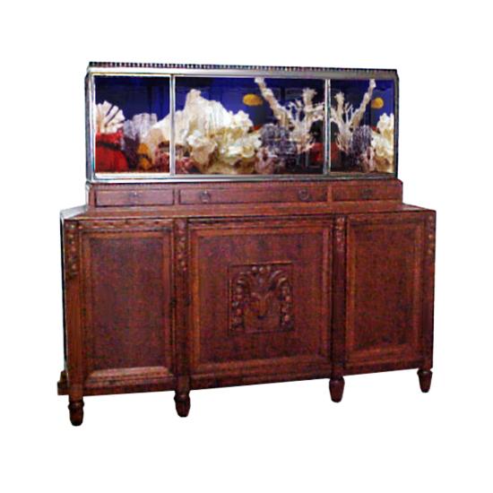 1811 Fantastic Art Deco Aquarium & Cabinet c. 1920