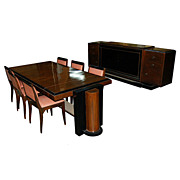 1816 Rosewood Lacquered 8-piece Art Deco Dining suite c.1920
