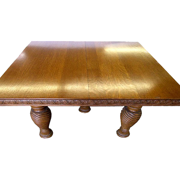 2011 19th C. Victorian Oak Dining Table