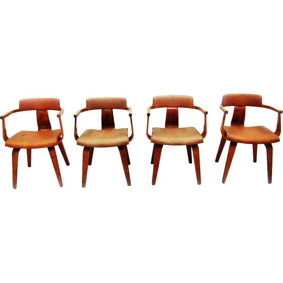 2125 Mid Century Thonet Dining Chairs, c. 1940