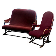 2312 Rare Thonet Bentwood Settee & Matching Chair