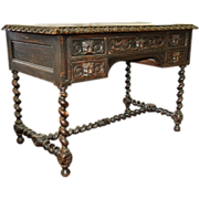 2355 19th C. Carved North Wind Desk