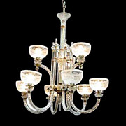 2486 English Glass Nine-Light Fixture