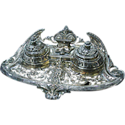2530 19th C. Silver Plate Inkwell