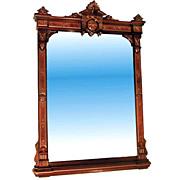 "33.2639 Walnut Wall Mirror w/2"" Bevel and Nice Detailing"