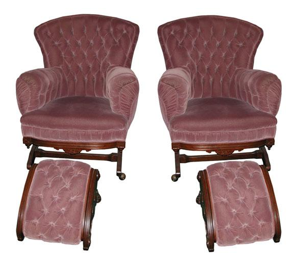 2706 Pair of 19th C. Victorian Platform Rockers c. 1875