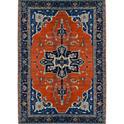 2796 Beautiful Heriz Persian Rug c. 1910