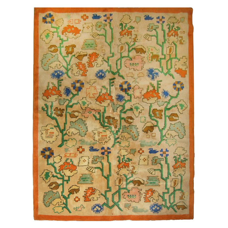 2839 12' x 9' Mid-Century Indian Rug