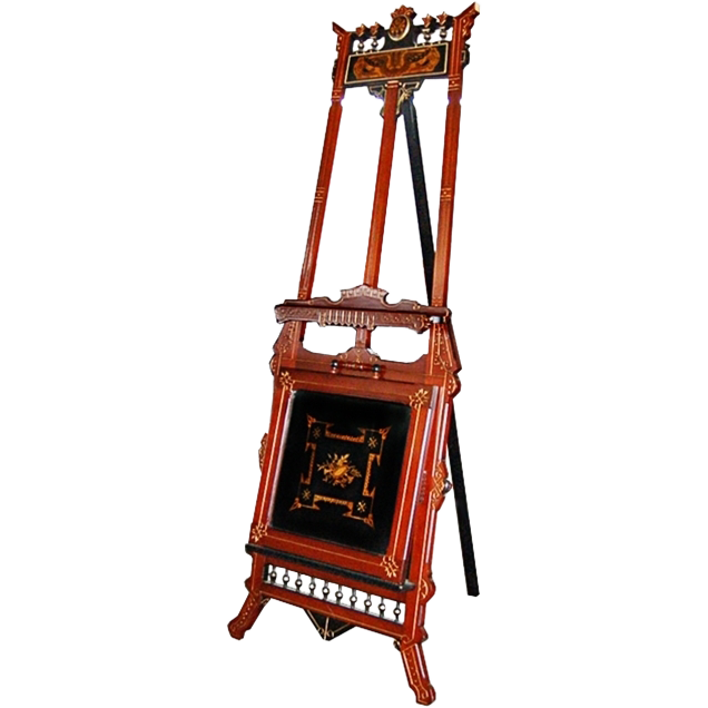 2988 19th C. American Victorian Renaissance Revival Easel