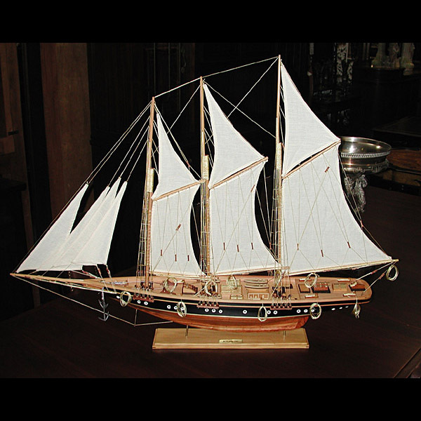 3185 Detailed Model of the Historic American Yacht: Atlantic