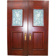 322 Mahogany Entry Doors with Beveled Glass Insets