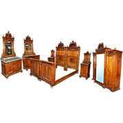 3464 19th C. European 7-Piece Bedroom Suite