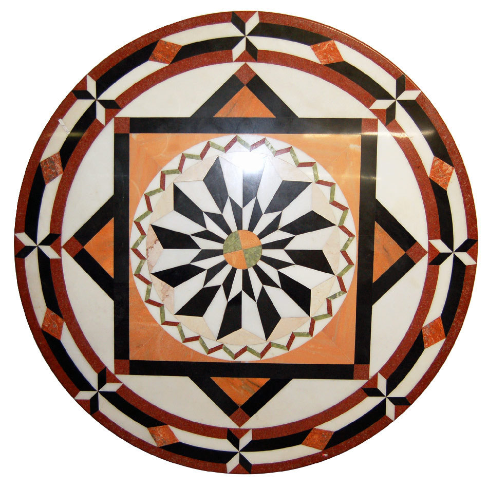 3471 Marble Table Top or Floor Medallion