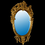 32.356 Louis XV Style Gilt Wood Mirror