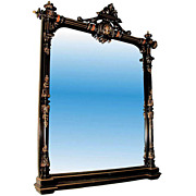 33.3707 Ebonized Victorian Large Mirror by HERTER BROTHERS