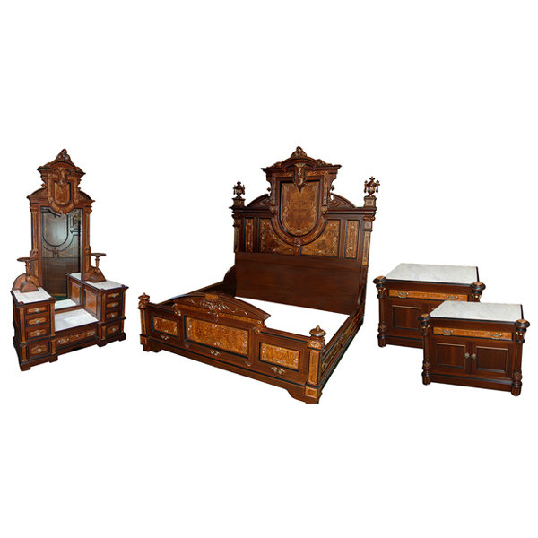 3909  Antique Victorian 4-pc. Bedroom Suite by Thomas Brooks