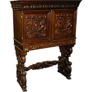 4021 19th C. American Carved Cabinet c. 1885