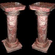 4052 Simple Pair of Rose/Peach Tuscan Columns