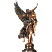 "4086 Bronze Group Entitled ""Gloria Victis"" the Winged Victory"""
