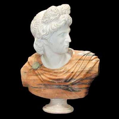 4242 Solid Marble Busts of Apollo
