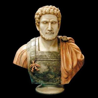 4243 Solid Marble Bust of Septimius Severus