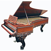 4485 Beautiful Art Case Rosewood American Chickering 9' Concert Grand Piano