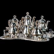 4536 7-Piece Victorian Silver Plate Tea Set