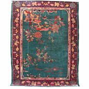 4545 Art Deco Style Rug From China c.1910
