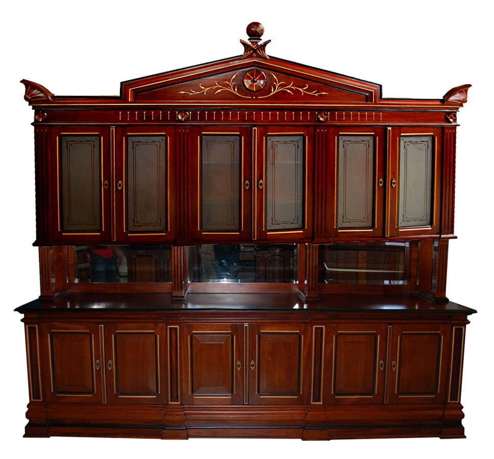 4559 Monumental American Cabinet Walnut Bookcase