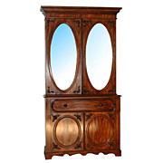 4561 Mahogany Butler's Secretary Desk/Entertainment Center