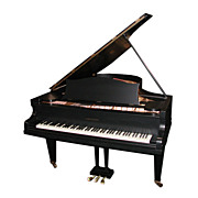 4597 Beautiful Antique Black Bechstein Grand Piano