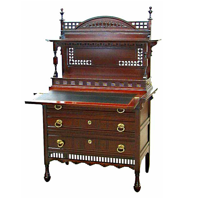 4599 Aesthetic Movement Mahogany Writing Desk