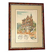 4670 19th C. German Victorian Architectural Prints