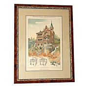 4670 19th C. German Victorian Architectural Prints