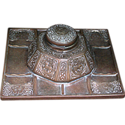 477A 19th C. Bronze Tiffany Zodiac Inkwell