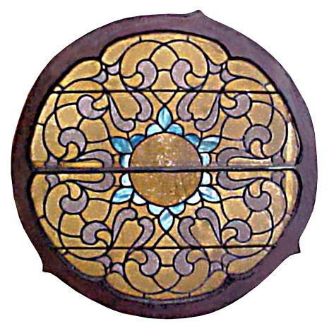 4817 4' Circular Stained Glass Window