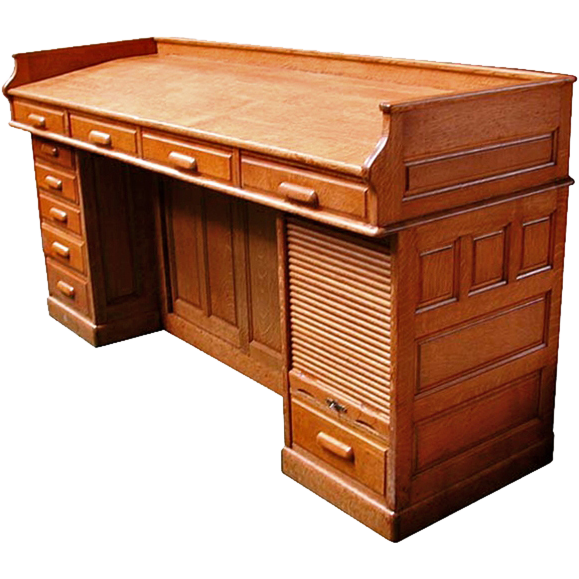 4839 American Oak Architect's Desk c. 1890