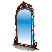484 Alexandre Roux Mirror and Marble Console