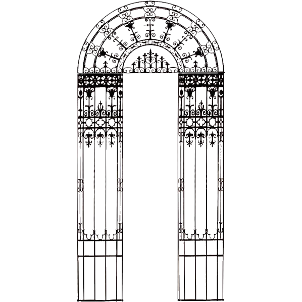 4877 19'H Cast Iron Entryway c. 1880