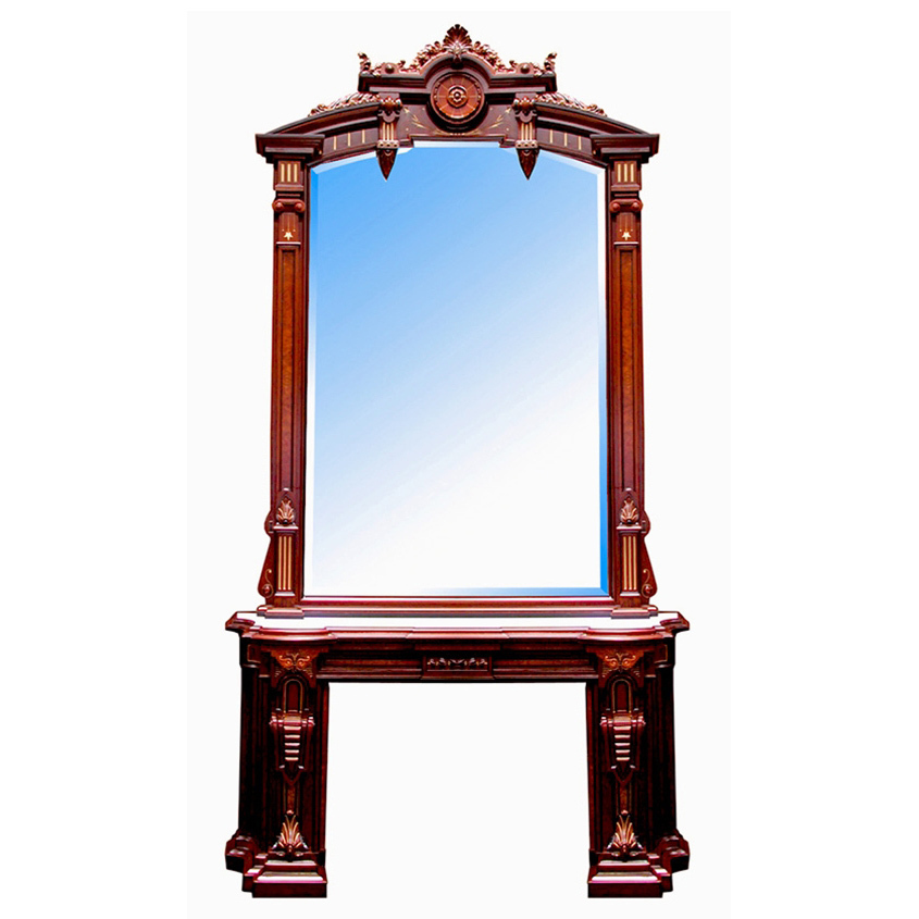4878 Renaissance Revival Mantel and Over Mirror