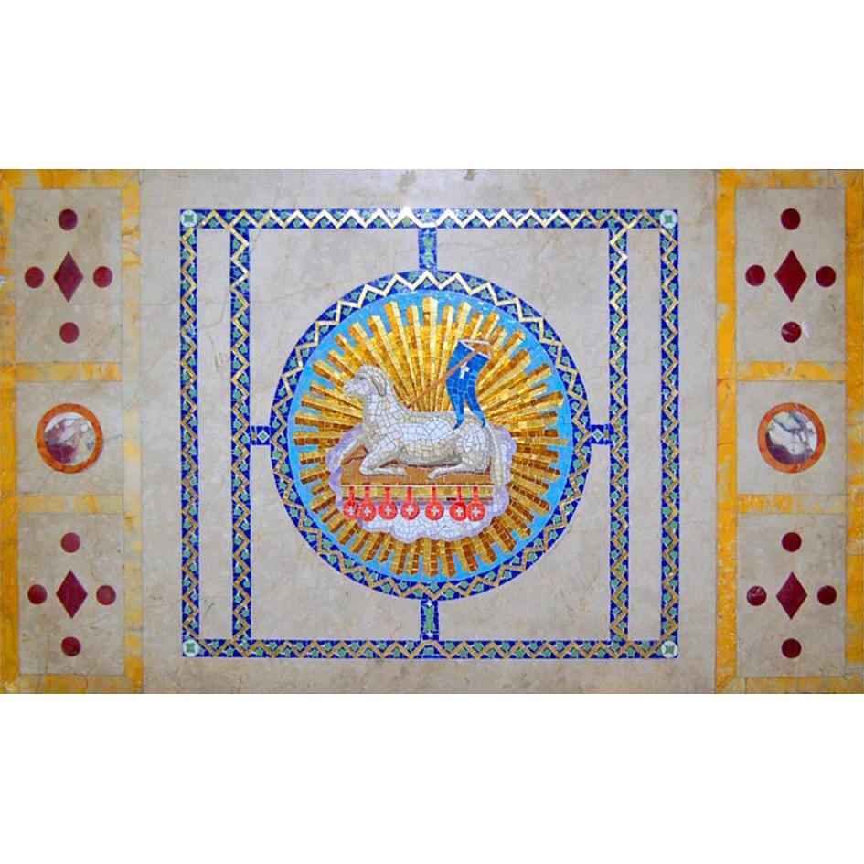 4917 3-Piece Tiffany Mosaic c. 1890