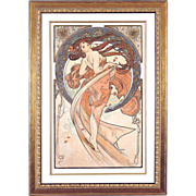 "4981A The Arts - ""Dance"" Art Print by Alphonse Mucha (1 of 4)"